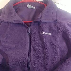 Columbia XL Purple Cotton Zip Up Jacket